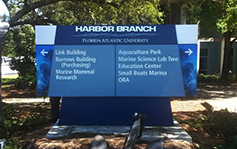 FAU Florida Atlantic University - Harbor Branch Ft. Pierce Fort Pierce location - monument sign