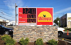 Wawa Gas Station - Monument Sign